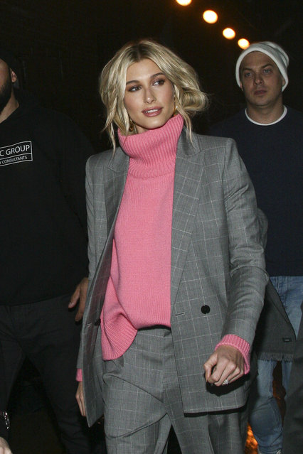 Hailey Baldwin attends the NYFW Fall/Winter 2019 Zadig & Voltaire fashion show at The Tunnel on Monday, February 11, 2019, in New York. (Photo by Andy Kropa/Invision/AP Photo)