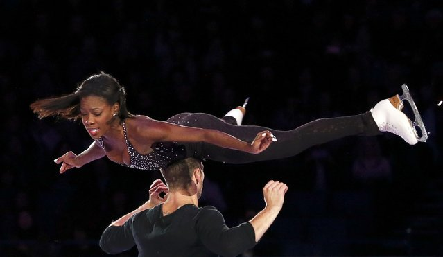 Vanessa James and Morgan Cipres of France perform during the Exhibition of the Champions at the ISU World Figure Skating Championships in Helsinki, Finland on April 2nd, 2017. (Photo by Grigory Dukor/Reuters)