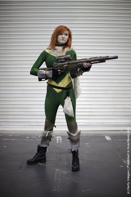 A visitor to the London Super Comic Convention dresses as Hope Summers at ExCel