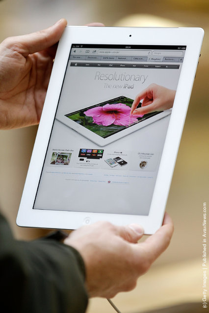 Demonstration models of Apple's new iPad on display at the Apple Store in Covent Garden