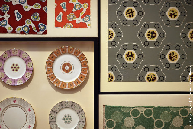 A display of 'Festival Pattern Group' designs are display at the Victoria and Albert museums' new major exhibition