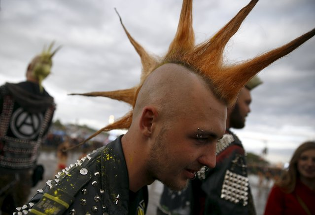 A man with a mohawk attends the 21st Woodstock Festival in Kostrzyn-upon-Odra, Poland July 30, 2015. (Photo by Kacper Pempel/Reuters)