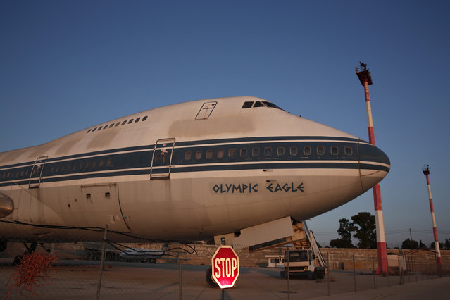 An Olympic Airways airplane stands on the premises of the former Athens International airport, Hellenikon June 16, 2014. (Photo by Yorgos Karahalis/Reuters)