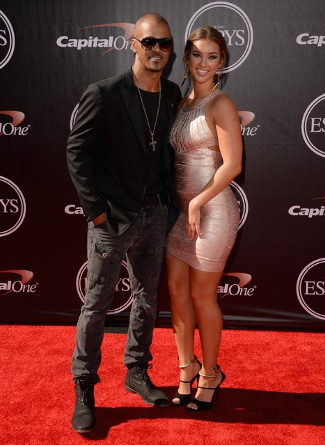 Actor Shemar Moore (L) with guest attends The 2014 ESPYS at Nokia Theatre L.A. Live on July 16, 2014 in Los Angeles, California. (Photo by Jason Merritt/Getty Images)