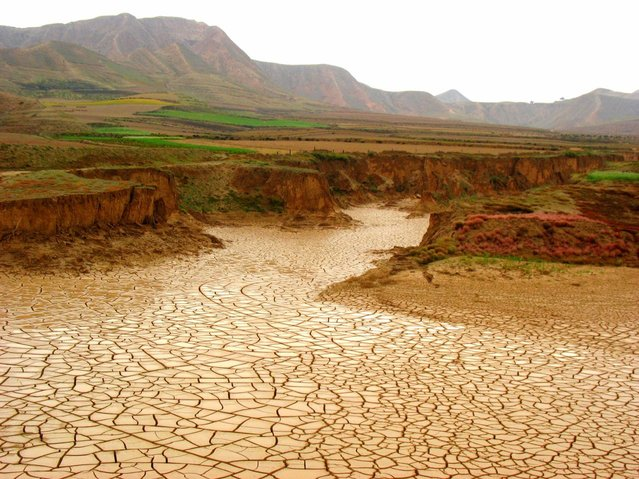 dried riverbed