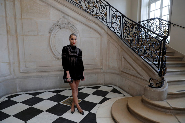 Model Jasmine Sanders poses during a photocall before the Spring/Summer 2018 women's ready-to-wear collection show for fashion house Dior during Paris Fashion Week, France, September 26, 2017. (Photo by Philippe Wojazer/Reuters)
