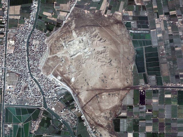 San Al Hajr Qabliyah, Egypt. (Photo by DigitalGlobe/Caters News)