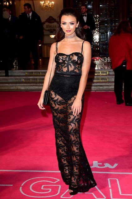 """UK """"Love Island"""" star Kady McDermott attends the ITV Gala hosted by Jason Manford at London Palladium on November 24, 2016 in London, England. (Photo by PA Wire)"""