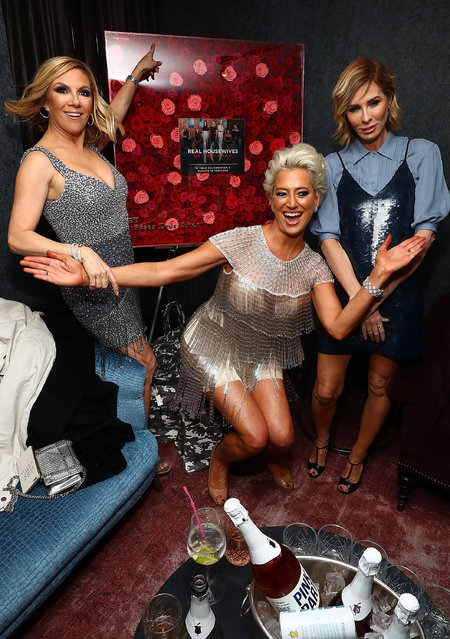 Ramona Singer, Dorinda Medley and Carole Radziwil attend The Real Housewives of New York Season 10 premiere celebration at LDV Hospitality's The Seville, produced by Talent Resources on April 4, 2018 in New York City. (Photo by Astrid Stawiarz/Getty Images for Talent Resources)