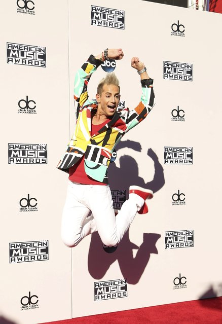 Frankie Grande arrives at the 2015 American Music Awards in Los Angeles, California November 22, 2015. (Photo by David McNew/Reuters)