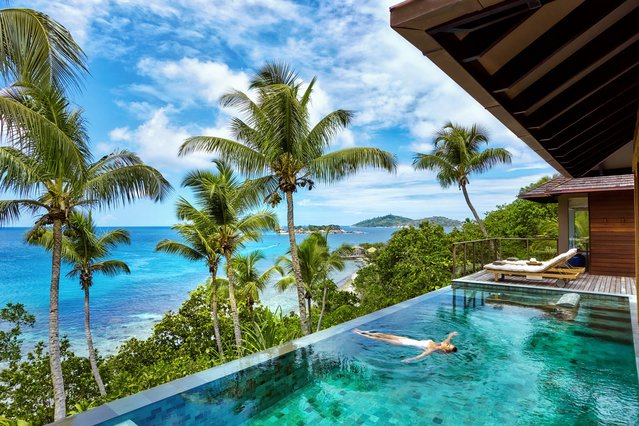World's Greatest Swimming Pools: Villa Six Senses Zil Pasyon in The Seychelles. Sure, there's a spa, hiking trails and plenty of beach activities, but you'll have a hard time peeling yourself away from your Seychelles villa's splash sanctuary. Especially when it proffers a sunken bed, small star lights for nighttime dips and panoramic views of the Indian Ocean, lush greenery and nearby islands. (From $5,802). (Photo by John Athamaritis/Six Senses Zil Pasyon)