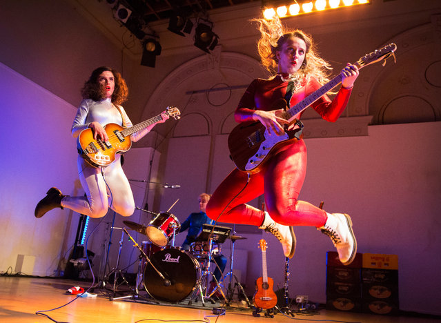 """Nele Needs a Holiday: The Musical"" band perform during the Big in Belgium showcase at the Edinburgh fringe festival in Edinburgh, Scotland on August 12, 2018. (Photo by Murdo Macleod/The Guardian)"