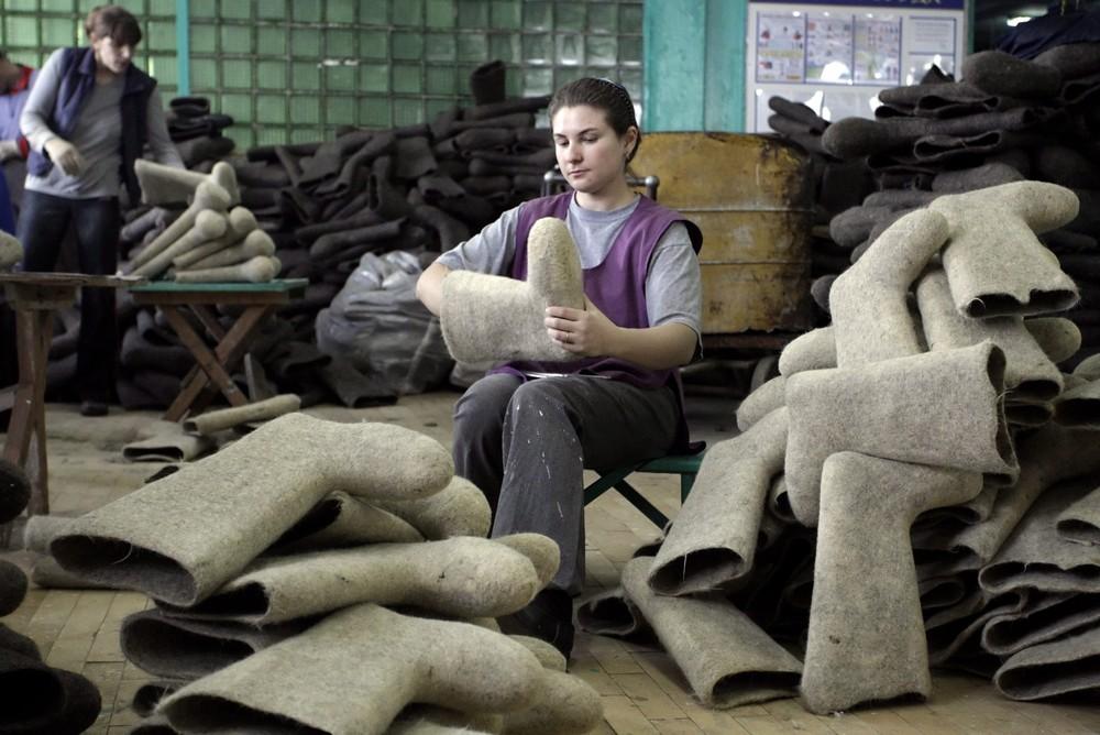Felt Boot Factory in Belarus