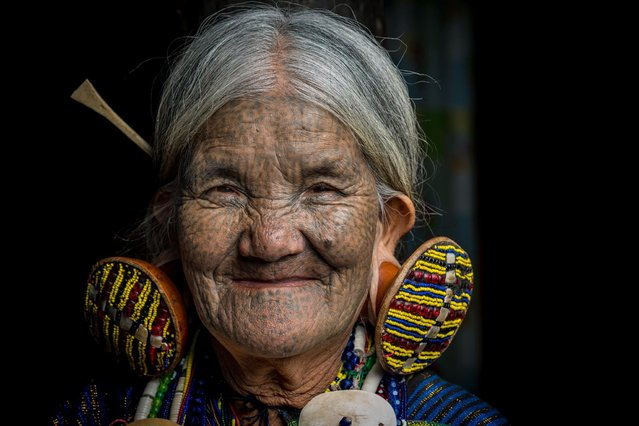 Elder Chin tribe woman with face tattoos in, Mindat, Myanmar, November 2016. (Photo by Teh Han Lin/Barcroft Images)