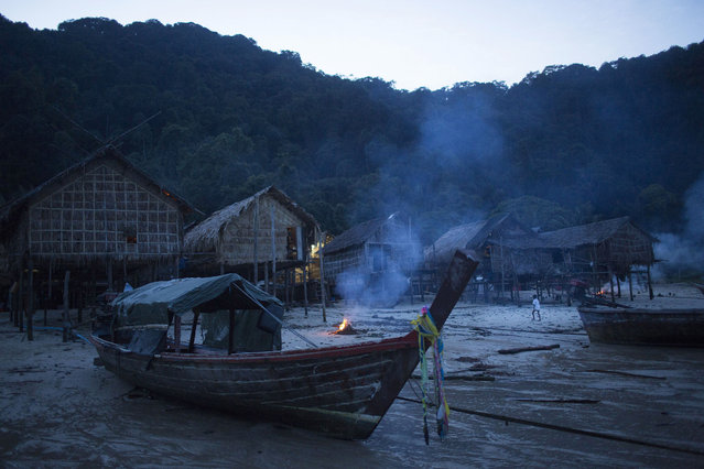 The Moken village in Ko Surin National Park, Thailand. October 10, 2013 – Ko Surin, Thailand. (Photo by Taylor Weidman/zReportage via ZUMA Press)