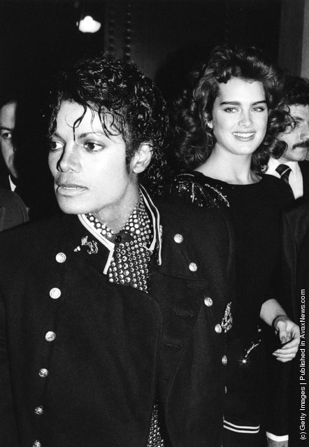 American singer Michael Jackson with actress Brooke Shields in New York, 1984