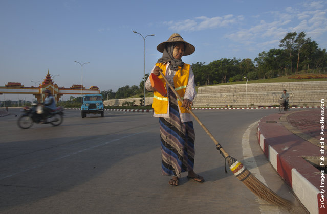 Street sweepers keep the streets clean sweeping every morning
