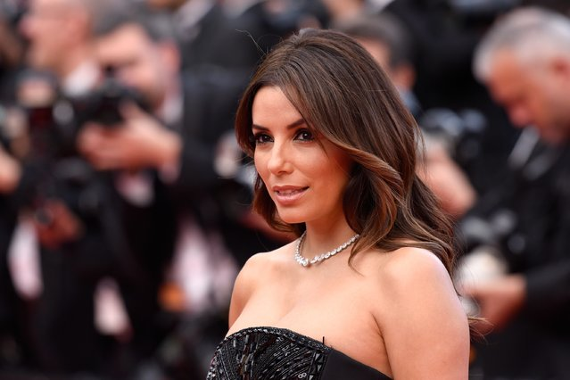 """US actress Eva Longoria attends the """"Money Monster"""" premiere during the 69th annual Cannes Film Festival at the Palais des Festivals on May 12, 2016 in Cannes, France. (Photo by Clemens Bilan/Getty Images)"""