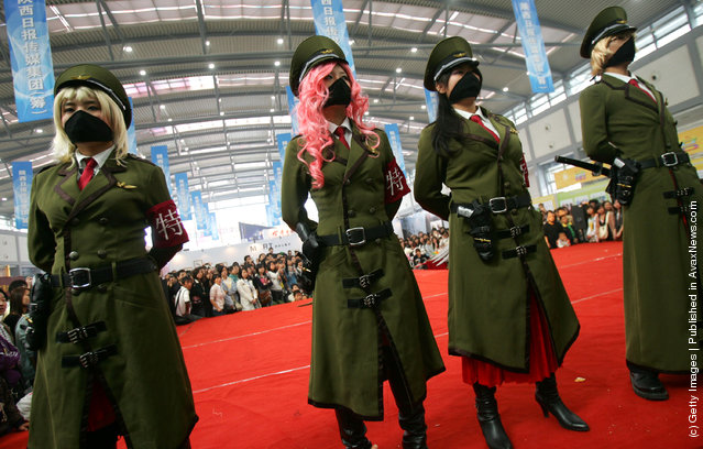 Fans present a comic-and-animation perforance during the Fourth West China (Xian) Cultural Industry Expo