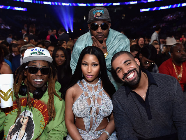 (L-R) Recording artists Lil Wayne, Nicki Minaj and Drake attend the 2017 Billboard Music Awards at T-Mobile Arena on May 21, 2017 in Las Vegas, Nevada. (Photo by John Shearer/BBMA2017/Getty Images for dcp)