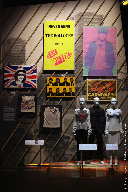 A wall dedicated to the 'Punk' movement is display at the Victoria and Albert museums' new major exhibition