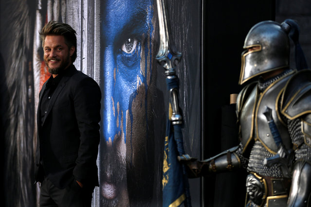 """Cast member Travis Fimmel poses at the premiere of the movie """"Warcraft"""" in Hollywood, California U.S., June 6, 2016. (Photo by Mario Anzuoni/Reuters)"""