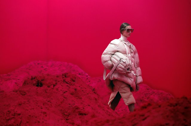 A model presents creations from the Moncler Autumn/Winter 2020 collection during Milan Fashion Week in Milan, Italy on February 19, 2020. (Photo by Alessandro Garofalo/Reuters)
