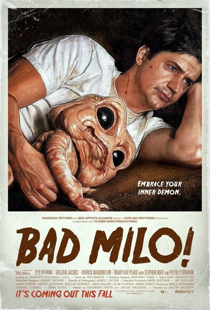 "A nominee in the Theatrical Illustration category is Gravillis' poster for the horror-comedy, ""Bad Milo!"". (Photo by Key Art Awards 2014)"