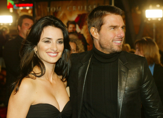 """Actors Penelope Cruz and Tom Cruise attend the WB's premiere of """"The Last Samurai"""" at the Mann's Village Theatre, December 1, 2003 in Los Angeles, California.  (Photo by Kevin Winter/Getty Images)"""