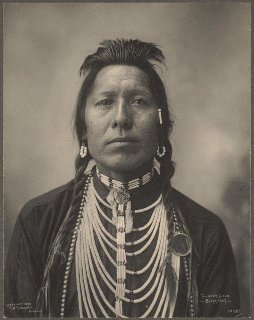 Thunder Cloud, Blackfeet, 1899. (Photo by Frank A. Rinehart)