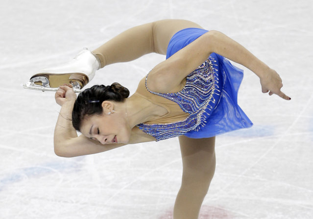 Leah Keiser performs during the ladies short program at the U.S. Figure Skating Championships in Greensboro, N.C., Thursday, January 22, 2015. (Photo by Chuck Burton/AP Photo)