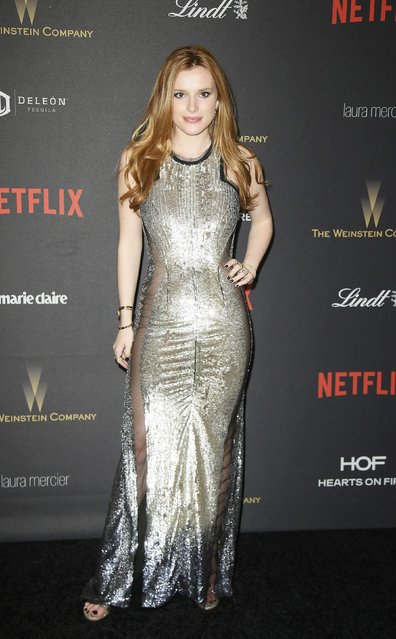 Actress Bella Thorne arrives at The Weinstein Company & Netflix Golden Globe After Party in Beverly Hills, California January 10, 2016. (Photo by Danny Moloshok/Reuters)