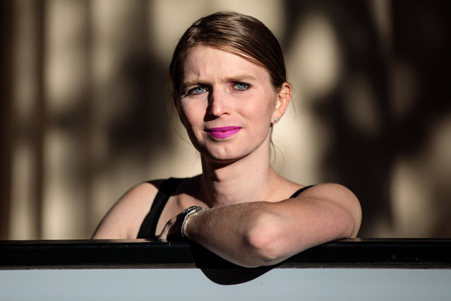 Former American soldier and whistleblower Chelsea Manning poses during a photo call outside the Institute Of Contemporary Arts (ICA) ahead of a Q&A event on October 1, 2018 in London, England. In 2010 Manning was convicted of leaking secret US documents and served seven years in military prison before being released. (Photo by Jack Taylor/Getty Images)