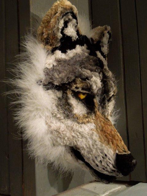 Mask # 4 (Wolf). (Photo by Lauren Ryan)