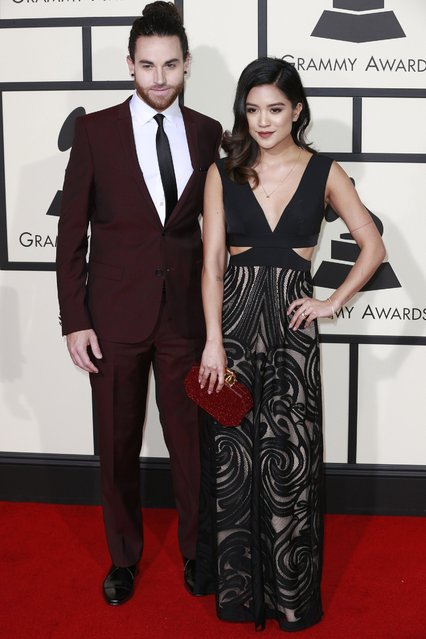 Us the Duo arrives at the 58th Annual Grammy Awards on Monday, February 15, 2016, at the Staples Center in Los Angeles. (Photo by Kirk McKoy/Los Angeles Times/TNS)