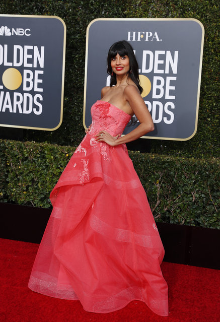 Jameela Jamil arrives at the 76th annual Golden Globe Awards at the Beverly Hilton Hotel on Sunday, January 6, 2019, in Beverly Hills, Calif. (Photo by Mike Blake/Reuters)