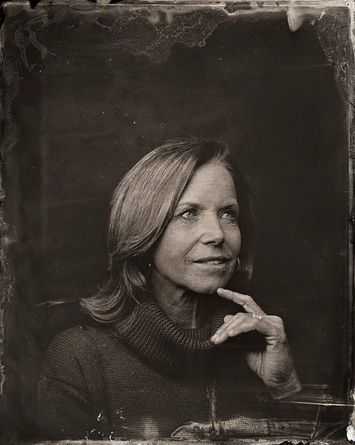 Katie Couric poses for a tintype (wet collodion) portrait at The Collective and Gibson Lounge Powered by CEG, during the 2014 Sundance Film Festival in Park City, Utah. (Photo by Victoria Will/AP Photo/Invision)