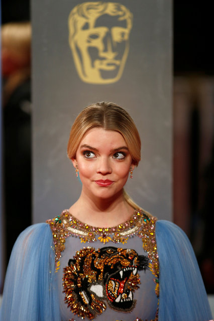 Anya Taylor-Joy arrives for the British Academy of Film and Television Awards (BAFTA) at the Royal Albert Hall in London, Britain February 12, 2017. (Photo by Peter Nicholls/Reuters)