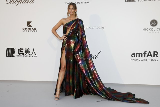 Lorena Rae poses for photographers upon arrival at the amfAR, Cinema Against AIDS, benefit at the Hotel du Cap-Eden-Roc, during the 72nd international Cannes film festival, in Cap d'Antibes, southern France, Thursday, May 23, 2019. (Photo by Eric Gaillard/Reuters)