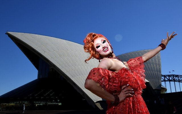Josie Baker poses for a photo during the Sydney Gay and Lesbian Mardi Gras WorldPride Bid Launch at the Sydney Opera House in Sydney, New South Wales, Australia, 06 June 2019. The Sydney Gay and Lesbian Mardi Gras will make a bid to host the biennial WorldPride in 2023 following support from the NSW government. (Photo by Joel Carrett/EPA/EFE/Rex Features/Shutterstock)