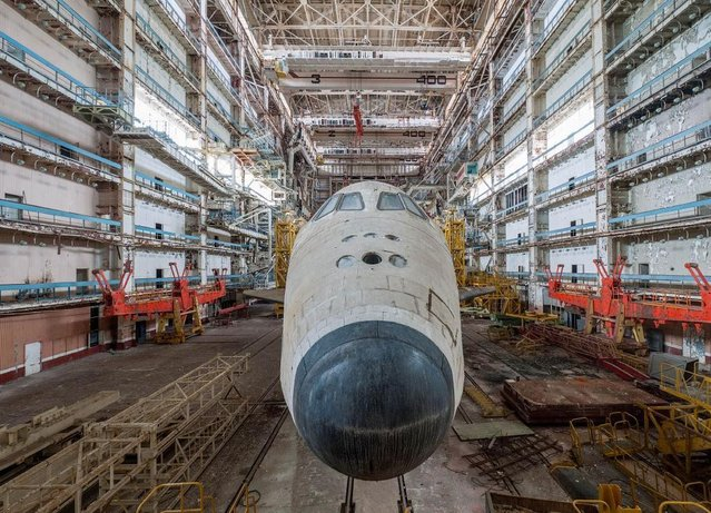 The nose was designed to be aerodynamic so the shuttle could gain enough thrust to fly into orbit. (Photo by Ralph Mirebs/Exclusivepix Media)