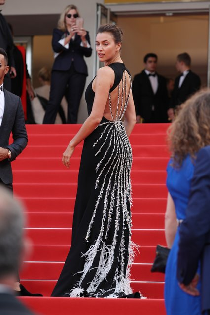 "Irina Shayk attends ""The Unknown Girl (La Fille Inconnue)"" Premiere during the 69th annual Cannes Film Festival at the Palais des Festivals on May 18, 2016 in Cannes, France. (Photo by Andreas Rentz/Getty Images)"