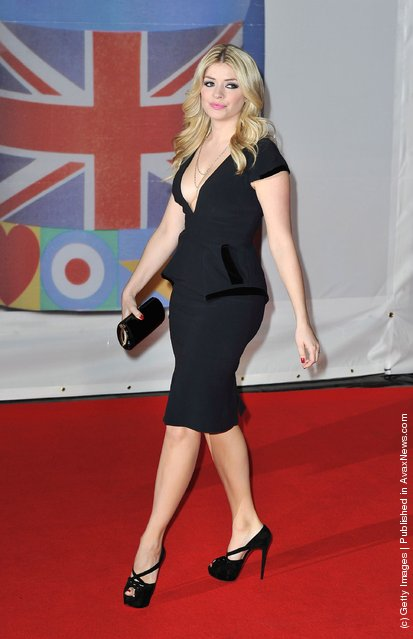 Holly Willoughby attends The BRIT Awards 2012 at the O2 Arena