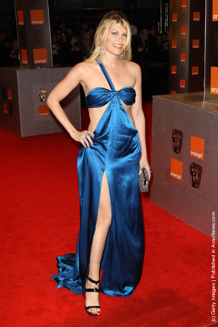 Meredith Ostrom arrives at the Orange British Academy Film Awards 2011 held at The Royal Opera House