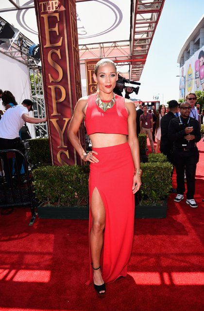 Soccer player Lolo Jones attends The 2014 ESPYS at Nokia Theatre L.A. Live on July 16, 2014 in Los Angeles, California. (Photo by Michael Buckner/Getty Images For ESPYS)