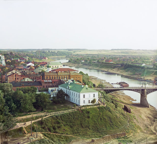 Photos by Sergey Prokudin-Gorsky. Vitebsk. Part of the city with the Western Dvina. Russia, Vitebsk Province, Vitebsk, 1912