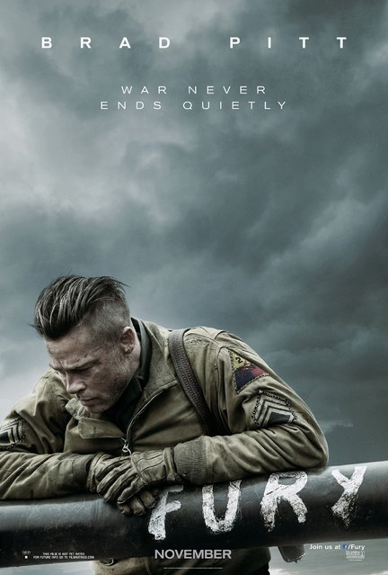 "A teaser poster for the upcoming Brad Pitt World War II film, ""Fury"". Category: Theatrical Domestic One-Sheet. Design firm: BLT Communications, LLC, Hollywood. (Photo by Key Art Awards 2014)"