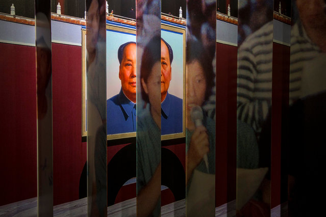 A portrait of late Chinese Communist Party leader Mao Zedong and a photo of Chai Ling, one of the student leaders during the 1989 Tiananmen Square protests, are seen at a museum dedicated to the protests, in Tsim Sha Tsui April 20, 2014. (Photo by Tyrone Siu/Reuters)