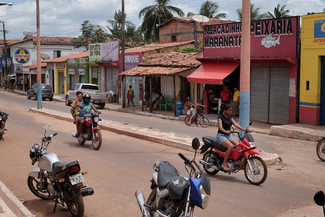 Centro do Guilherme, Maranhão, Brazil on August 12, 2015. Until recently the town was a center for loggers taking trees out of the Alto Turiacu reserve. Residents say a police operation several months ago virtually eliminated the activity. Current traffic is mostly motor bikes. (Photo by Bonnie Jo Mount/The Washington Post)