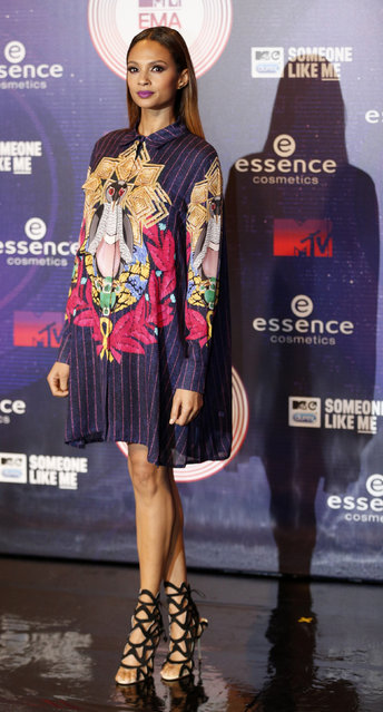 Singer, dancer and model Alesha Dixon arrives on the carpet before the 2014 MTV Europe Music Awards at the SSE Hydro Arena in Glasgow. (Photo by Russell Cheyne/Reuters)
